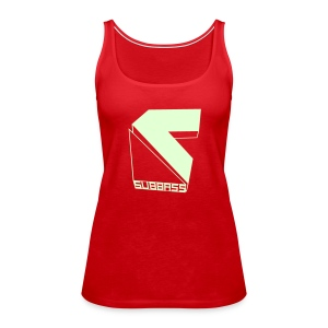 Subbass Girlie Shirt ohne Ärmel Glow in Dark! - Frauen Premium Tank Top
