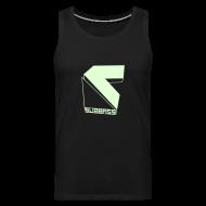Sportbekleidung ~ Männer Premium Tank Top ~ SUBBASS T-Shirt ohne Ärmel Glow in Dark!