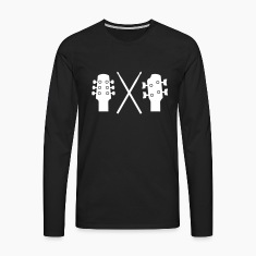 Guitar, Bass and Drums Langærmede t-shirts