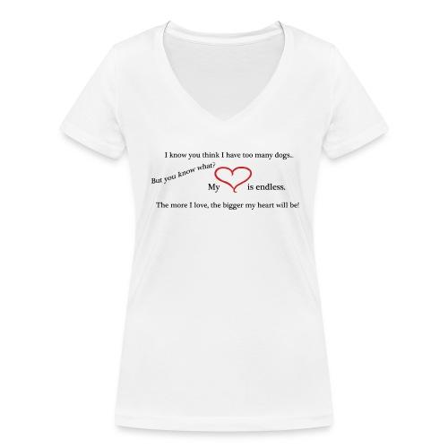 t-shirt dam endless love - Ekologisk T-shirt med V-ringning dam från Stanley & Stella
