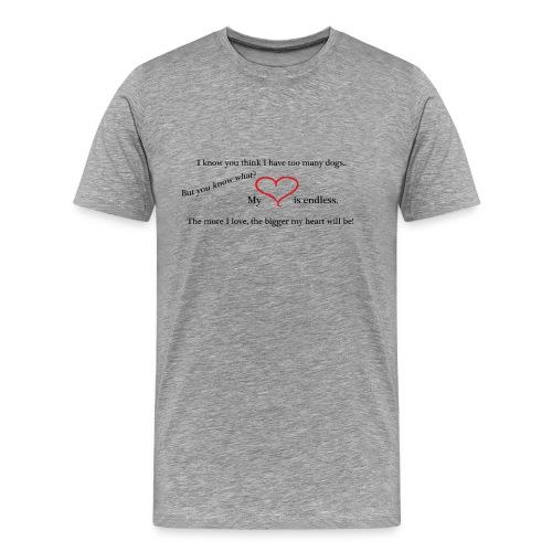 t-shirt herr endless love - Premium-T-shirt herr