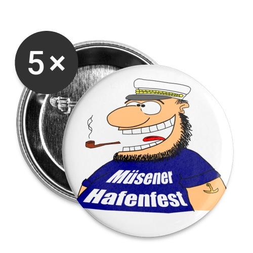 Button Kapitän - Buttons groß 56 mm (5er Pack)