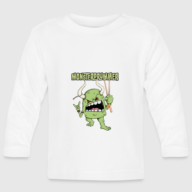 The drummer is a monster Long Sleeve Shirts - Baby Long Sleeve T-Shirt