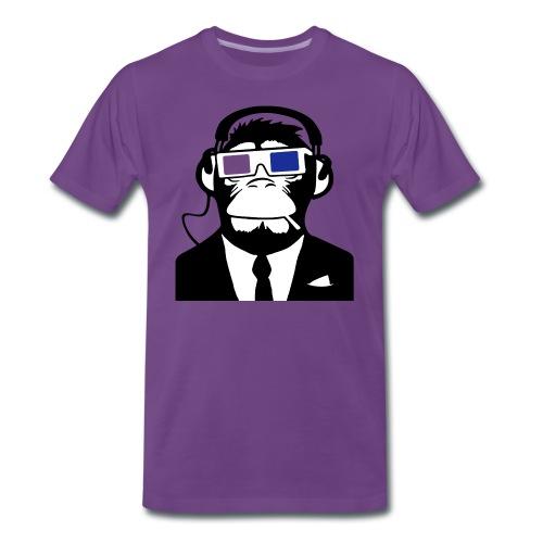 Monkey T Shirt Purple - Men's Premium T-Shirt