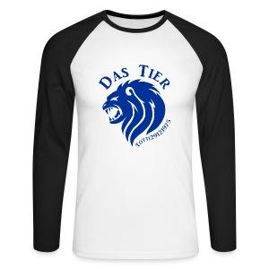 Blauer Baseball Profi - Männer Baseballshirt langarm