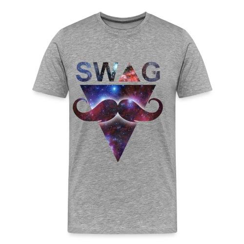 SWAG MOUSTACHE TEE - Men's Premium T-Shirt