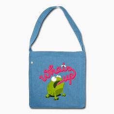 whats up frog Bags & Backpacks