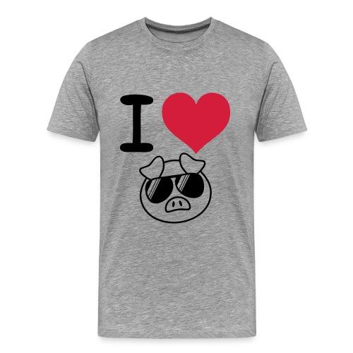 I heart pig T-shirt - Men's Premium T-Shirt