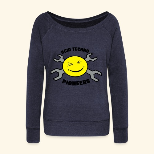 Acid Techno Pioneers Collection  - Women's Boat Neck Long Sleeve Top