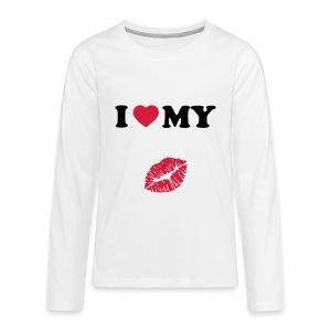 I love my (kiss) - Teenagers' Premium Longsleeve Shirt