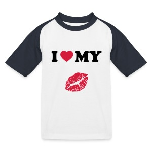 I love my (kiss) - Kids' Baseball T-Shirt
