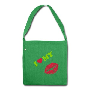 I love my (kiss) - Shoulder Bag made from recycled material