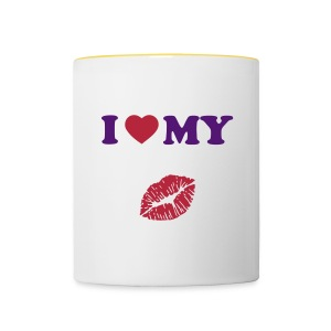 I love my (kiss) - Contrasting Mug