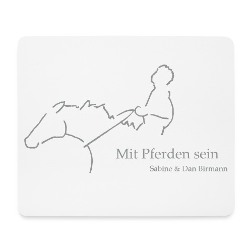 Mit Pferden sein Reiter Mousepad - Zart Grau - Mousepad (Querformat)