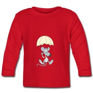 Parachuting Mouse - Baby Long Sleeve T-Shirt