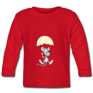 Parachuting Mouse - Baby Long Sleeve T-Shirt