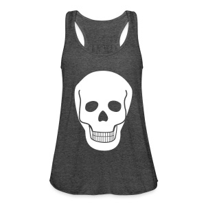 Top SKULL white - Frauen Tank Top von Bella