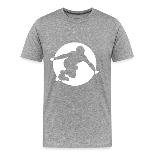 Longboard T-Shirt (grau) - Männer Premium T-Shirt