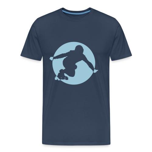Longboard T-Shirt (blau) - Männer Premium T-Shirt