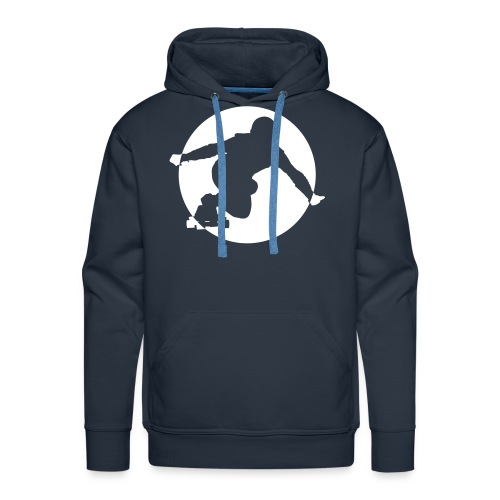 Longboard Pullover (blau) - Männer Premium Hoodie
