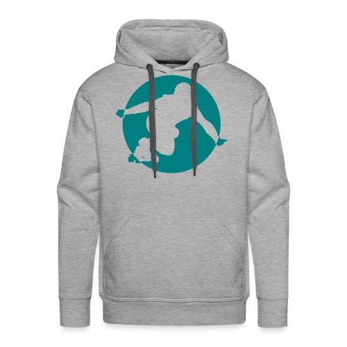 Longboard Pullover (grau) - Männer Premium Hoodie