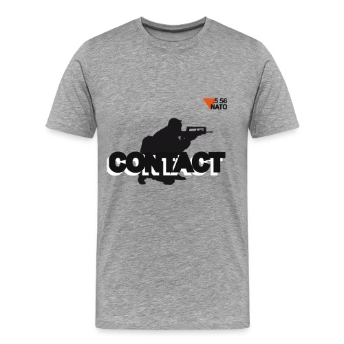 .5.56 NATO noir small logo CONTACT  - T-shirt Premium Homme