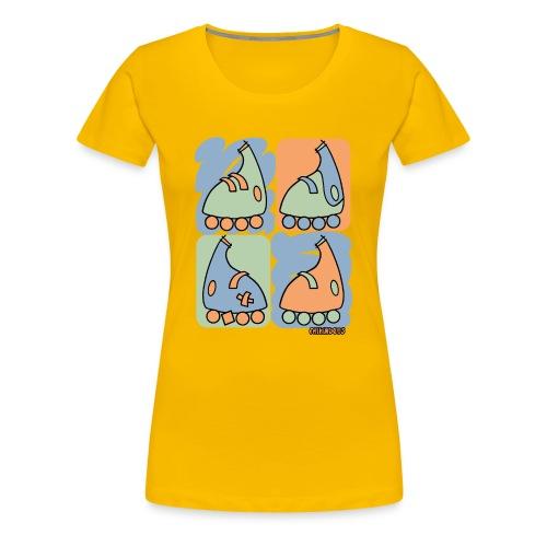 Camiseta mujer Patín Warhol - Camiseta premium mujer