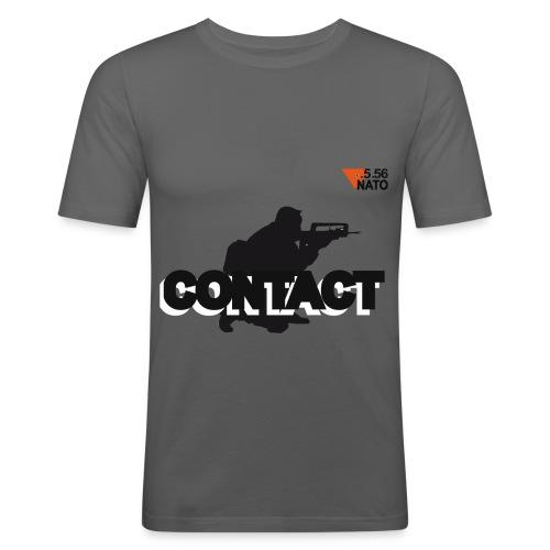 .5.56 NATO noir small logo CONTACT  - T-shirt près du corps Homme