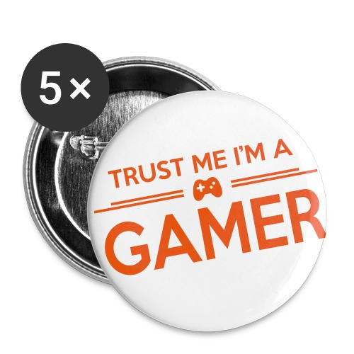 GAMER?! - Buttons/Badges mellemstor, 32 mm (5-pack)