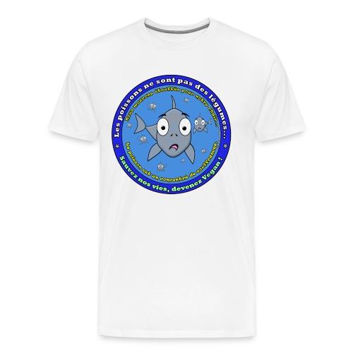 Les poissons ne sont pas des légumes - T-shirt Premium Homme