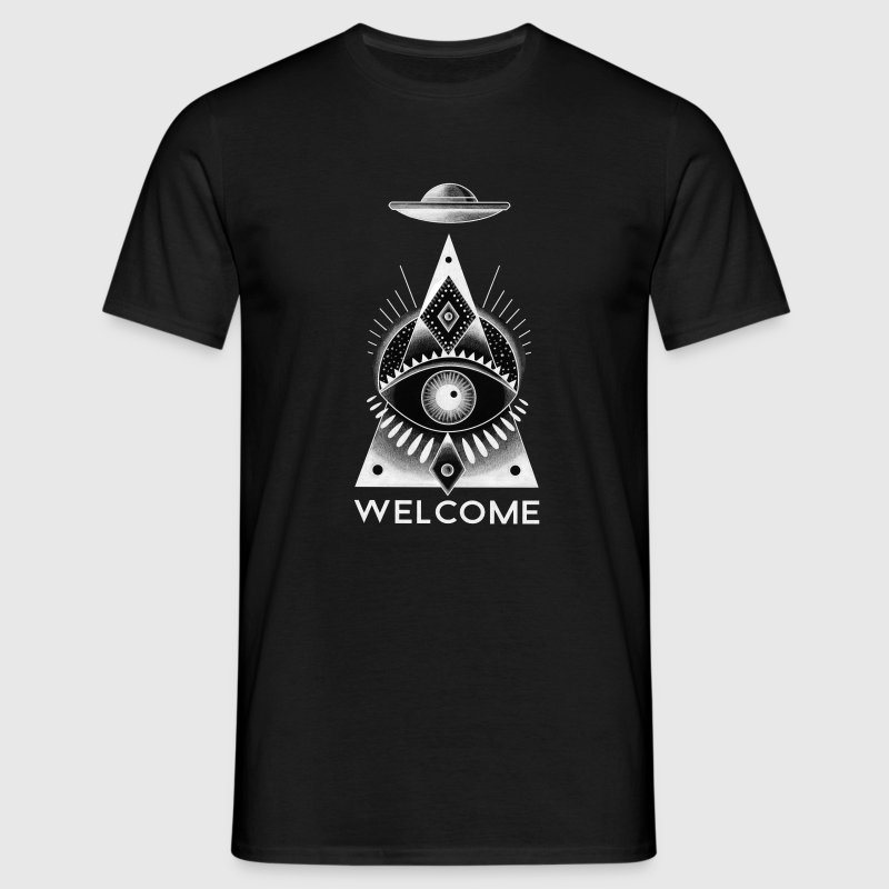 Black Welcome T-Shirts - Men's T-Shirt