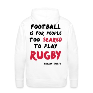 Scared to Play Rugby - Men's Premium Hoodie