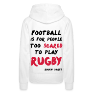 Hoodies & Sweatshirts ~ Women's Premium Hoodie ~ Scared to Play Rugby