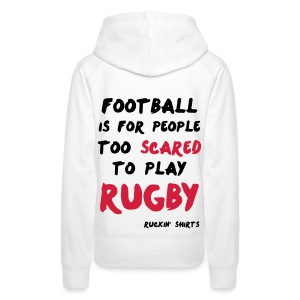 Scared to Play Rugby - Women's Premium Hoodie