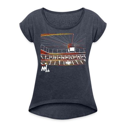 Waldstadion Women - grey - Frauen T-Shirt mit gerollten Ärmeln
