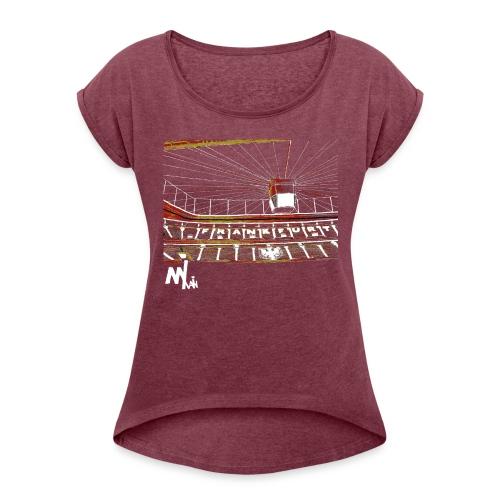 Waldstadion Women - red - Frauen T-Shirt mit gerollten Ärmeln