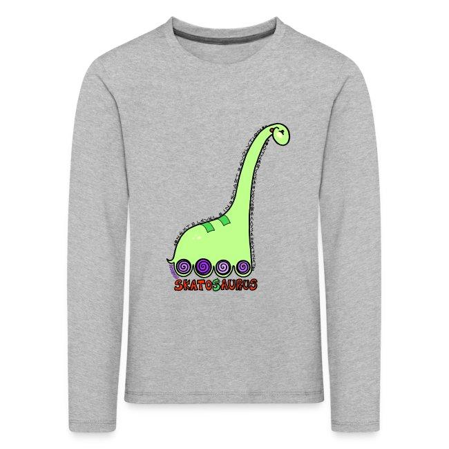 Camiseta niño manga larga Skatosaurus