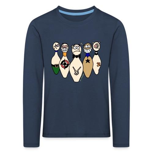 Camiseta niño manga larga Bolos Compungidos - Camiseta de manga larga premium niño