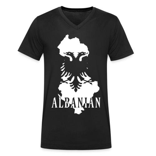 Albanian Flag // V-Kragen - Männer Bio-T-Shirt mit V-Ausschnitt von Stanley & Stella