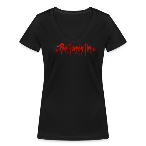 Seitanistin V-Ausschnitt Ketchup Blut - Frauen Bio-T-Shirt mit V-Ausschnitt von Stanley & Stella