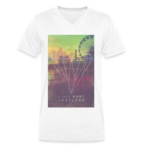 oneshxt Herren T-Shirt V-Ausschnitt Explore - Männer Bio-T-Shirt mit V-Ausschnitt von Stanley & Stella
