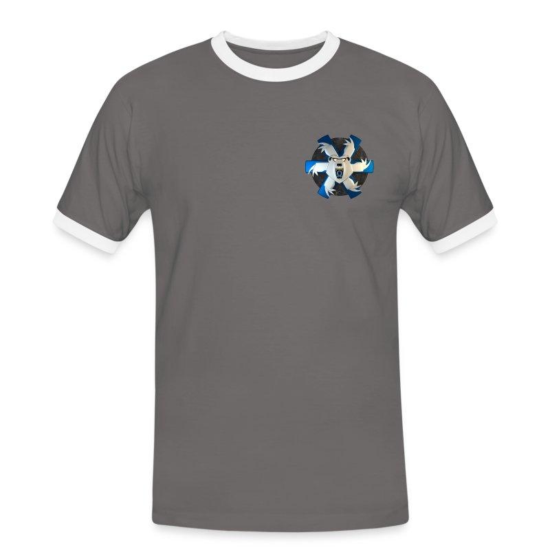GCGB Beispiel Shirt 2 (Double-Logo) - Männer Kontrast-T-Shirt