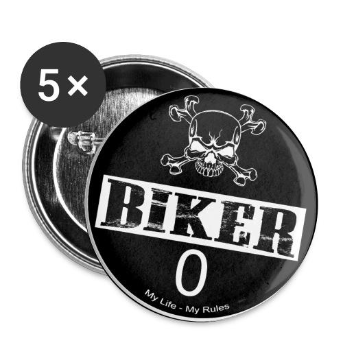 Biker Plakette | Feinstaub 0 | 5er Pack - Buttons klein 25 mm