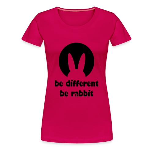 be different, be rabbit - Frauen Premium T-Shirt