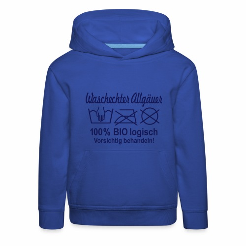 Waschechter Allgäuer, Allgäu, Bayern, lustig, Spruch - Kinder Premium Hoodie