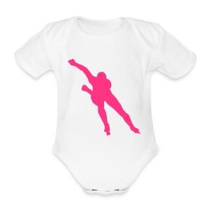 SCHAATSEN - Baby bio-rompertje met korte mouwen