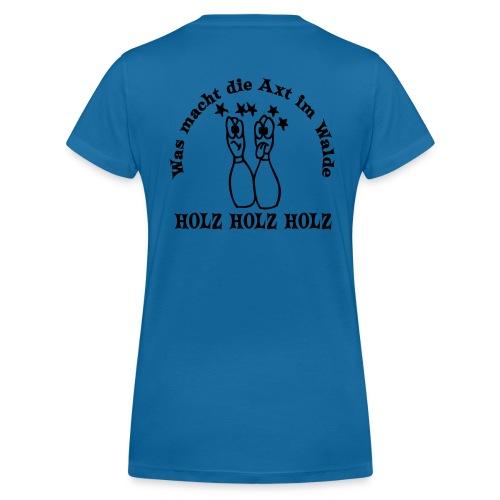 Damen Sportlaiberl Fanlaiberl Sportkegeln - Frauen Bio-T-Shirt mit V-Ausschnitt von Stanley & Stella