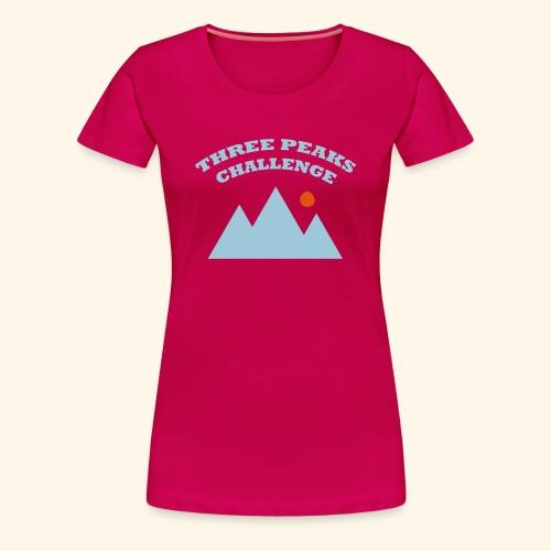 Three Peaks Challenge - Women's Premium T-Shirt
