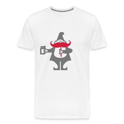 Schnauzmandli Weiss - Männer Premium T-Shirt