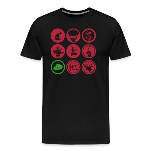 Happy Aikido - Hanko Men's T  - Men's Premium T-Shirt